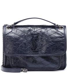 NEW Saint Laurent Paris LARGE Black Boot Handbag Storage Drawstring Bags PAIR