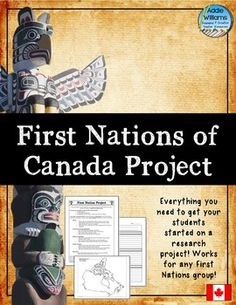 First Nations of Canada Project - help guide students through a research… Canadian Social Studies, 6th Grade Social Studies, Social Studies Activities, Teaching Social Studies, Aboriginal Education, Indigenous Education, History Projects, Research Projects, History Class