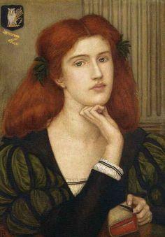 The Lady Prays Desire, by Marie Spartali Stillman, 1867