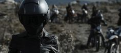 In the film, a gang of young dirt-bikers on a ride across an isolated region of Brazil find themselves being hunted by a machete-wielding band of motorcyclists intent on killing them all. Riding Helmets, Horror, Sci Fi, Superhero, Film, Movies, Film Stock, Science Fiction, Film Movie