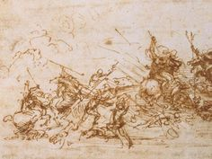 Study for the Battle of Anghiari, by da Vinci
