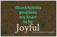 Thankfulness positio