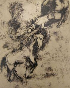 Marc Chagall, The Horse and the Donkey, etching on paper, 1927