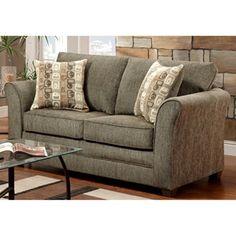 Essex Loveseat - Accent Pillows, Radar Graphite Fabric