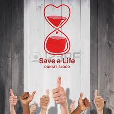 donate: Blood donation against wooden planks