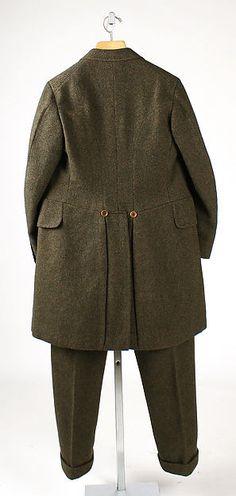 Riding habit back view. Date: 1910–20 Culture: British Medium: wool