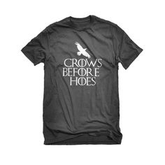 Crows Before Hoes Mens Unisex T-shirt