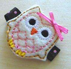 Owl barrettes - cute!!