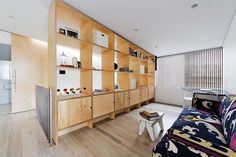 Stylish room divider with storage units