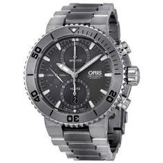 Oris Aquis Chronograph Grey Dial Titanium Mens Watch