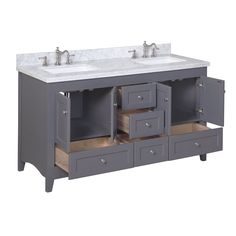 Wade Logan Glen Ridge 60 Double Bathroom Vanity Set With White Top
