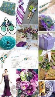 teals, purples, peacock