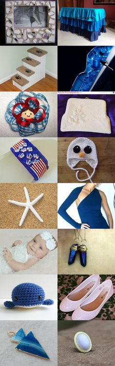 White And Blue Finds  by Jo Stamatakis on Etsy--Pinned with TreasuryPin.com  #summerfinds