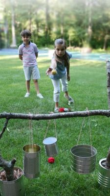 DIY backyard games for kids plus tons of outdoor entertaining ideas