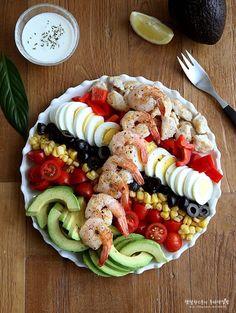 콥샐러드 만들기, 요거트 드레싱으로 간단하게~ 주말한끼식사 : 네이버 블로그 Food Design, Wine Parties, No Cook Meals, Food Styling, Pasta Salad, Salad Recipes, Salads, Food And Drink, Appetizers