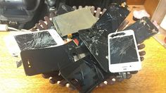 Want your phone to end up like this? If not, use our high quality Tempered Glass Screen Protectors (by XGear USA).