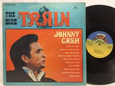 Johnny Cash The Blue Train Share #5002 Rare LP Vinyl Record Original