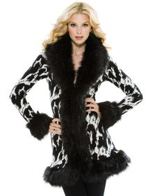 JACQUARD LEOPARD ROCK N' ROLL COAT.... love this look online, but when I ordered it not so much... its a sweater with no lining and the faux fur is dull and saggy  :(