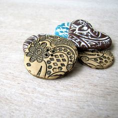 Tutorial - Making Lace Polymer Clay Buttons