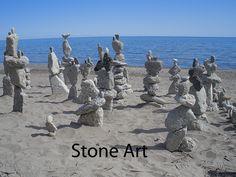 Stone art in Toronto, Canada