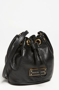 5ef2eb0332 MARC by Marc Jacobs  Too Hot to Handle - Mini  Leather Drawstring Crossbody  Bag Black. Peggy Maxwell