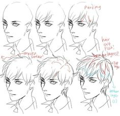 Anime Drawing Tutorial draw the hair Drawing Techniques, Drawing Tips, Drawing Sketches, Drawing Ideas, Sketching, Manga Drawing, Figure Drawing, Drawing Hair, Drawing Faces