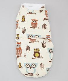 Take a look at this Four Sisters Trading Company Blue & Brown Owl Snuggler on zulily today!