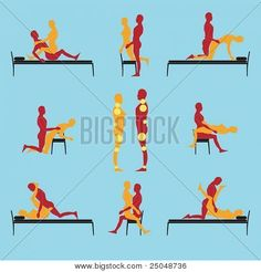 Lovers Guide - Sex Positions - Make Your Own Position Using Yellow Circles Stock Vector & Stock Photos | Bigstock