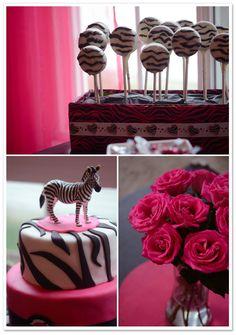 cute pink zebra birt