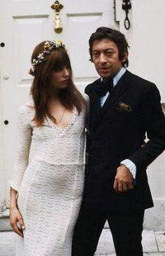 Crochet wedding dress Jane Birkin