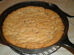 Secrets from the Cookie Princess: Cast Iron Skillet Chocolate Chip Cookie