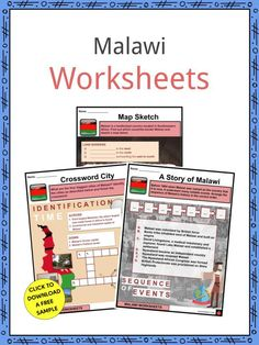 This is a bundle which includes everything you need to know about the Malawi across 24 in-depth pages. These are ready-to-use Malawi worksheets that are perfect for teaching students about the Malawi which is a landlocked country—a country that is not connected to any world ocean, or simply, a country surrounded by land—located in Southeastern Africa. Malawi is bordered by Zambia to the west, Tanzania to the north, and Mozambique surrounding the east to south, totally locking Malawi by land. African Great Lakes, Map Sketch, Geography Worksheets, Church Of Scotland, Oceans Of The World, Fifth Grade, Study Materials, Sign I, Tanzania