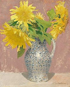 Sunflowers  by Sir William Nicholson, (English 1872 - 1949)