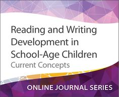 I SO want to take this course and I don't even need CEUs yet... Reading and Writing Development in School-Age Children: Current Concepts