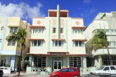 Archiettura in Ocean Drive, South Beach, Miami