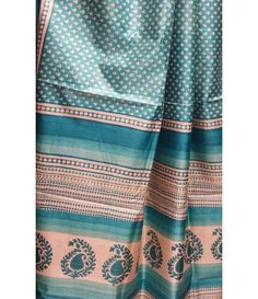 e46726129b Blue Handloom Tussar Raw Silk Saree Raw Silk Saree, Silk Sarees, Casual  Saree,
