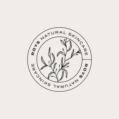 Roy's Natural Skincare: A Refined Take On Clean Beauty | Dieline - Design, Branding & Packaging Inspiration Inspiration Logo Design, Design Blog, Tag Design, Design Trends, How To Design Logo, Logo Design Studio, Design Awards, Logo Desing, Circle Logo Design