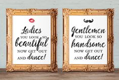 Wedding bathroom signs womens and mens restroom by DesignsByKhari