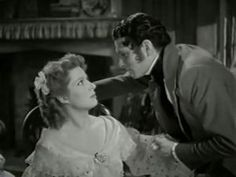 Elizabeth Bennet and Mr Darcy played by Greer Garson and Laurence Olivier in Pride and Prejudice 1940