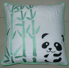 This reversible cushion can be used in any baby nursery or bedroom.  It could easily be used as a nursing pillow and perfect to dress up your baby's cot or child's bed. Simply flip between Mr Panda and his bamboo tree to green polka dot to change the look of your baby décor.. $39.95