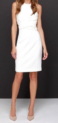 Ivory Midi Dress ==
