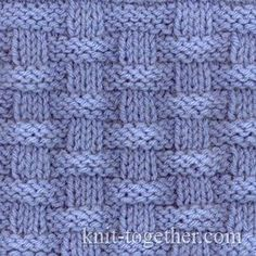 Basket (Wicker) Stitch Pattern 2