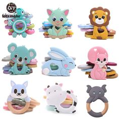 Let'S Make Silicone Teether Baby Toddler Toys Diy Stroller Accessories For Pacifier Chain Owl Food Grade Toys Baby Teether Owl Food, Playdough Activities, Beading For Kids, Shapes For Kids, Kids Clothes Sale, Diy Toys, Children's Toys, Baby Must Haves, Baby Teethers
