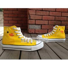 Rubber Ducks Kids/Adult High Top Hand Painted Converse Sneaker
