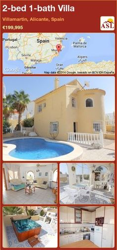 2-bed 1-bath Villa in Villamartin, Alicante, Spain ►€199,995 #PropertyForSaleInSpain