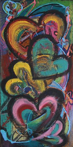 Manishas Art: Pastel Hearts..acrylic painting on canvas