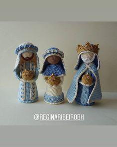 Crochet Home, Knit Or Crochet, Crochet Dolls, Amigurumi Doll, Amigurumi Patterns, Crochet Christmas Ornaments, Christmas Crafts, Yarn Crafts, Crochet Projects