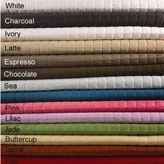 coverlets...white,sea,jade,chocolate..love them !