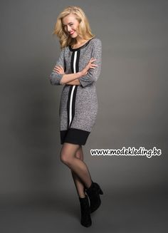 http://www.modekleding.be/Tramontana-jurk-W26-P20-80-501-Dress-Punta-Jacquard-Mix-black
