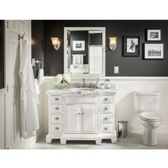 Picture Collection Website allen roth Vanover White Undermount Single Sink Birch Bathroom Vanity